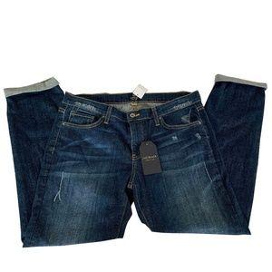 Just Black Women's Dark Denim Boyfriend Jeans